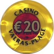 casino valras-plage € 20 jeton anv