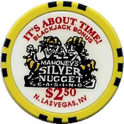 Casino silver nugget mahoney's $ 2,50 chip anv