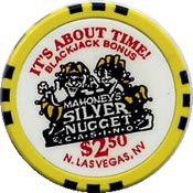 Casino silver nugget mahoney's $ 2,50 chip rev