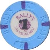 casino bally's LV $1 chip anv