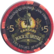 casino caesars LV $5 chip anv