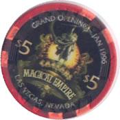 casino ceesars LV $5 chip rev