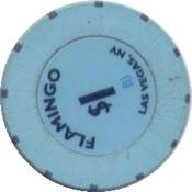casino flamingo LV 1$ chip rev