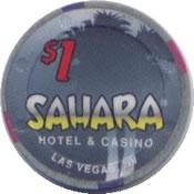 casino sahara LV 1$ chip anv