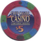 casino cliff castle camp verde AZ $1 chip anv