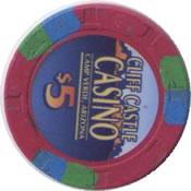 casino cliff castle camp verde AZ $1 chip rev