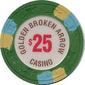 casino golden broken arrow ok $ 25 chip 1 anv1