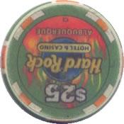 casino hard rock albuquerque NM $25 chip rev