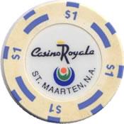 casino royale st maarten n a $ 1 chip 1 anv