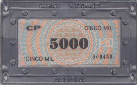 casinos nacionales argentina 5000 placa anv