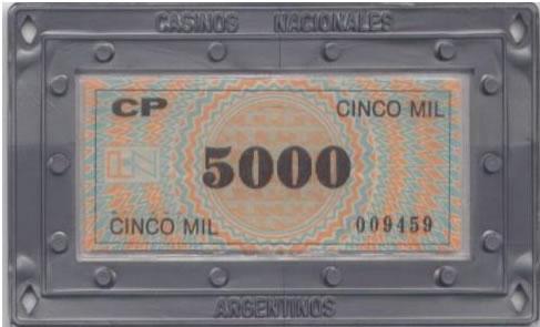 casinos nacionales argentina 5000 placa rev