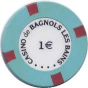 casino de bagnols les bains 1 € chip anv