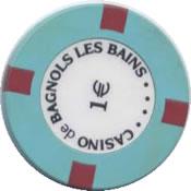 casino de bagnols les bains 1 € chip rev