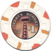 casino jerry's nugget LV $1 chip anv