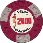 casino samarina quito 2000 Chip 1 anv=rev