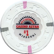 casino aztar misou $ 1 chip 1 anv=rev