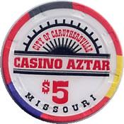 casino aztar misou $ 5 chip 1 anv=rev