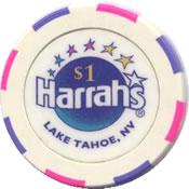 casino harrahs lake tahoe Nv $1 chip anv