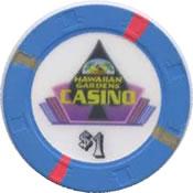 casino hawaiian gardens CA $1 chip anv