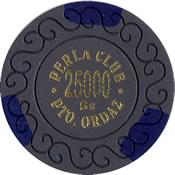 casino perla club pto ordaz Bs 25000 chip 1 anv=rev
