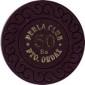 casino perla club pto ordaz Bs 50 chip 1 anv=rev