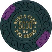 casino perla club pto ordaz Bs 5000 chip 1 anv=rev