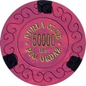 casino perla club pto ordaz Bs 50000 chip 1 anv=rev