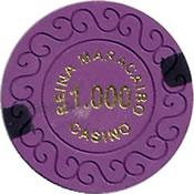 casino reina maracaibo 1000 chip 1 anv=rev