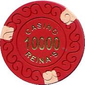 casino reina's 10000 chip 1 anv=rev