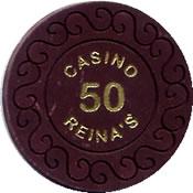 casino reina's 50 chip 1 anv=rev