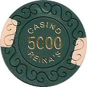 casino reina's 5000 chip 1 anv=rev