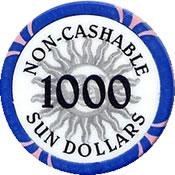 casino sun 1000 chip 1 rev