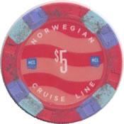 norvegian cruise line $5 chip anv