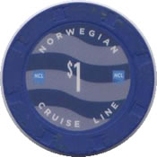 norwegian cruise line $ 1 chip anv