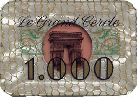 casino le grand cercle paris FF 1000 plaque 1 anv