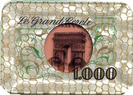 casino le grand cercle paris FF 1000 plaque 1 rev
