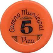 casino municipal pau FF 5 jeton 1anv=rev