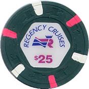 regency cruises $ 1 chip 25 anv=rev