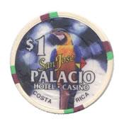 casino san josé palacio CR $1 chip anv