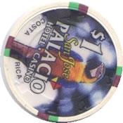 casino san josé palacio CR $1 chip rev