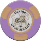 casino gran madrid colón 2 € chip anv