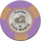 casino gran madrid colón 2 € chip rev