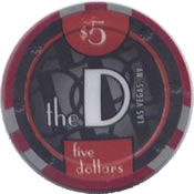 casino the D LV $5 chip anv