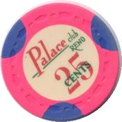 casino palace club reno cents 25 chip rev