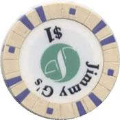 casino Jimmy G's lakewood WA $1 chip 1 rev