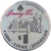 casino Jimmy G's lakewood WA $1 chip anv
