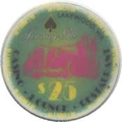 casino Jimmy G's lakewood WA $25 chip anv