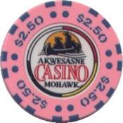 casino akwesasne mohak NY $2,50 chip anv