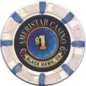 casino ameristar Black hawk CO $1 chip anv