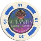 casino atlantis Rn $1 chip and